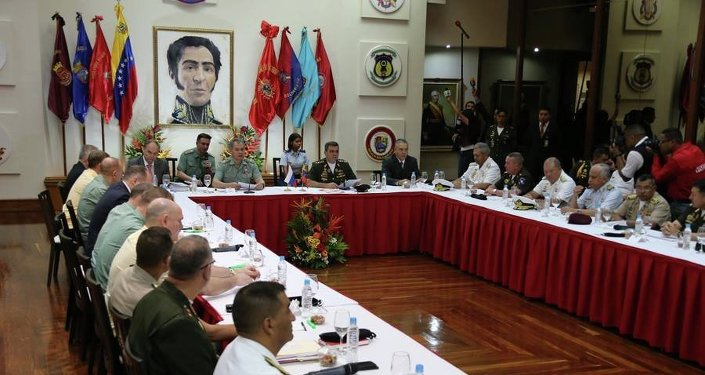 Ministro de Defensa de Rusia, Serguéi Shoigú durante su visita a Venezuela