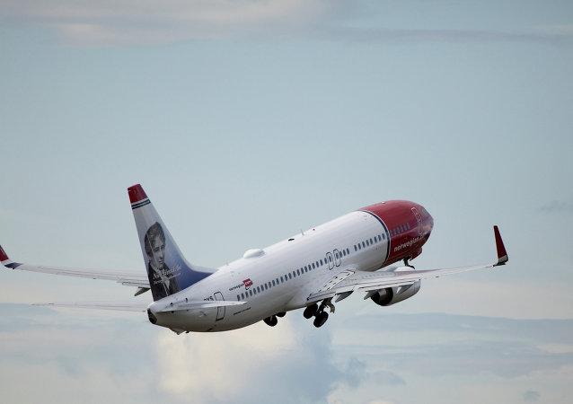 Boeing 737 de la aerolínea Norwegian