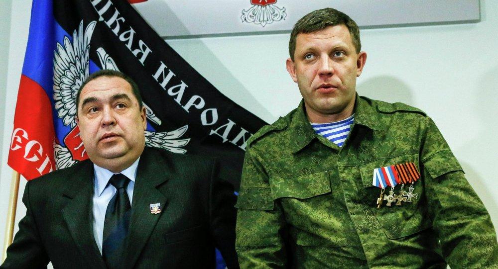 Independentistas de Donbás , Ígor Plotnitski y Alexandr Zajárchenko