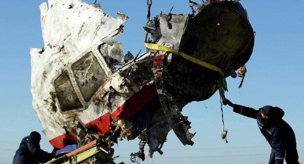 Restos del avión malasio derribado en el este de Ucrania (archivo)