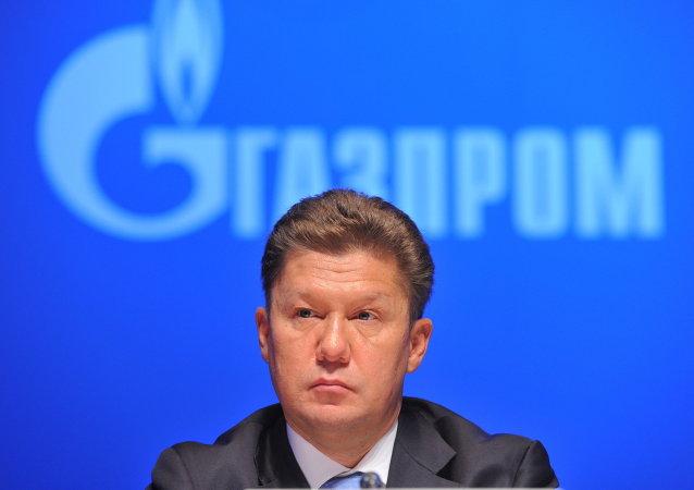 Alexéi Miller, el presidente de la compañía rusa Gazprom