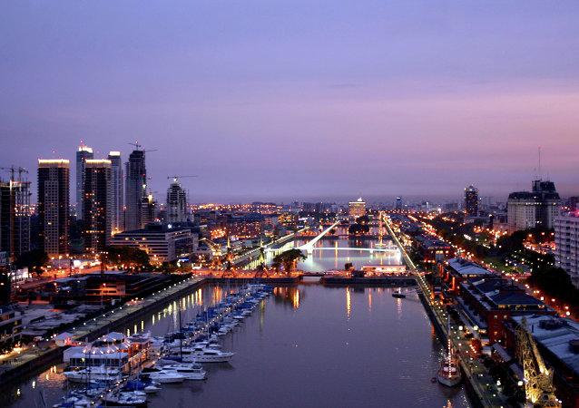 Puerto Madero, zona turística de Buenos Aires.