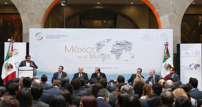 Miguel Barbosa declaró inaugurado el seminario 'México en el mundo: Diagnóstico y perspectivas de las relaciones internacionales'