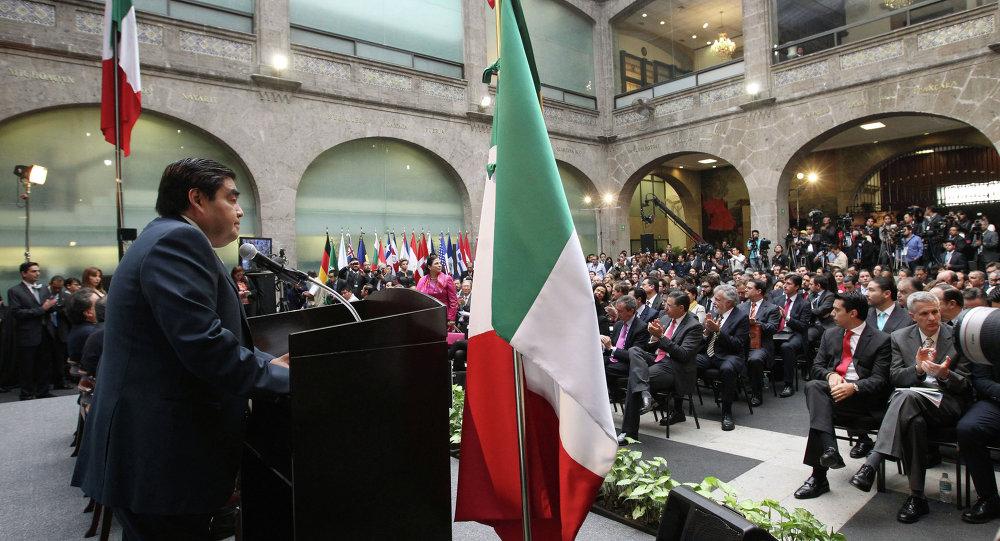 Presidente de la Mesa Directiva del Senado, Miguel Barbosa, declaró inaugurado el seminario 'México en el mundo: Diagnóstico y perspectivas de las relaciones internacionales'