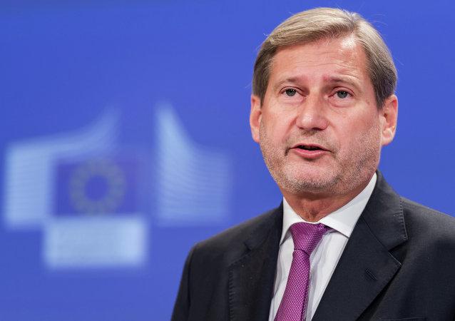 Johannes Hahn, el comisario europeo de Política de Vecindad y para Negociaciones de Ampliación de la UE