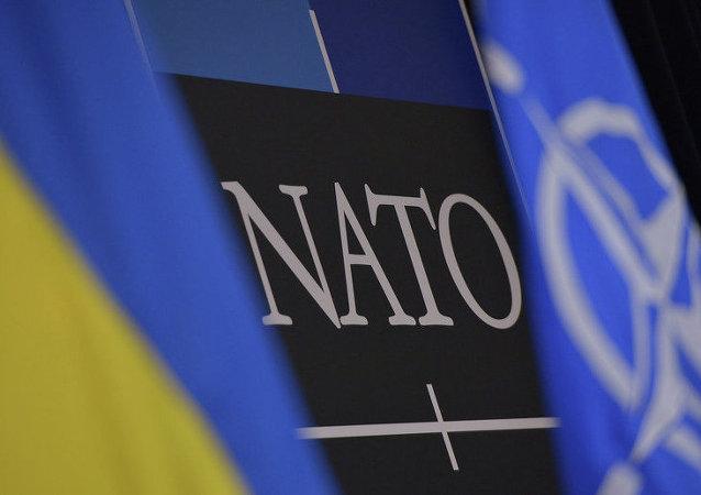 Banderas de Ucrania y la OTAN