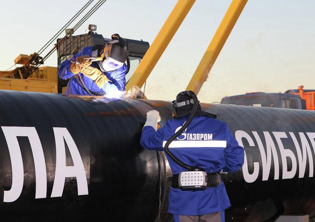 Gasoducto Fuerza de Siberia (archivo)