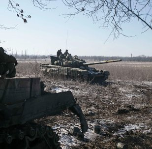 Tanques de las milicias de Donetsk