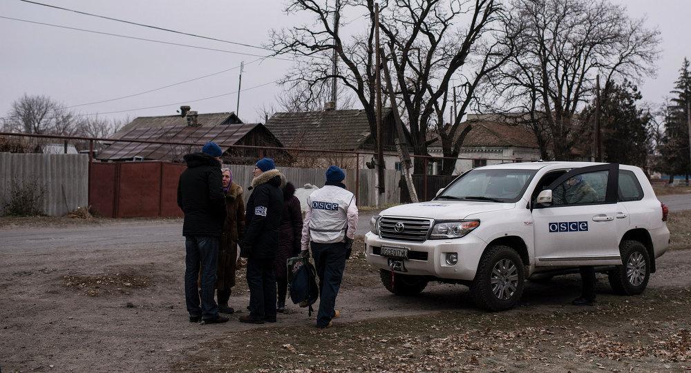 Observadores de OSCE en Ucrania
