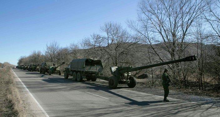 Retirada de armas pesadas de Donetsk