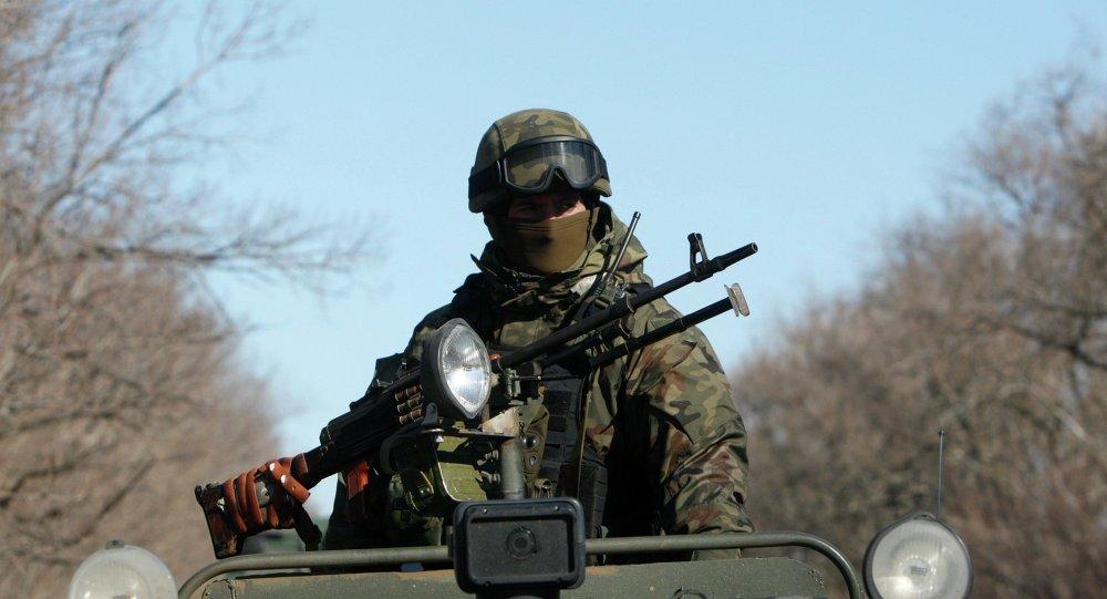 Miembro de las fuerzas armadas de Ucrania