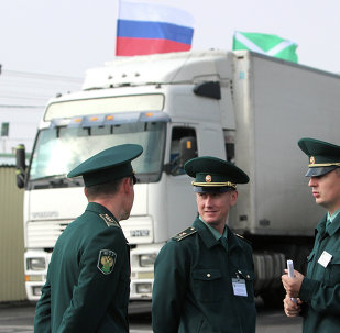 Punto aduanero en la Crimea