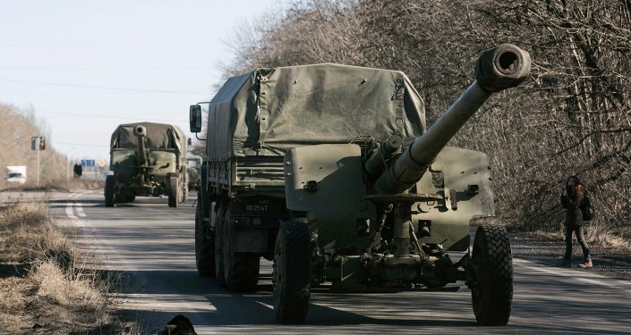 Retirada de armas pesadas en Donbás