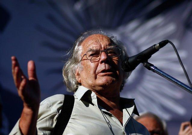 Adolfo Pérez Esquivel durante un discurso (archivo).