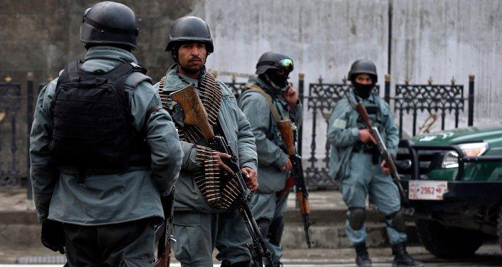 Policía de Afganistán (archivo)