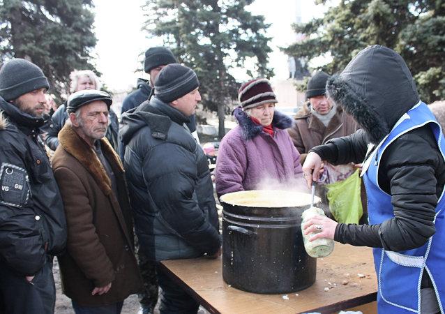 Población civil de Donbás