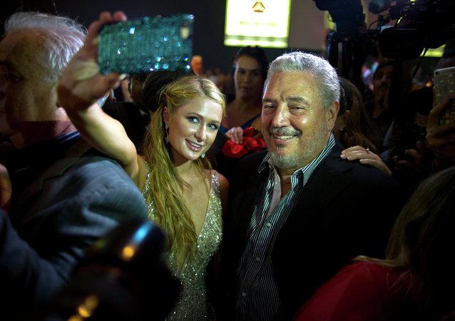 Paris Hilton y Fidel Castro Diaz-Balart