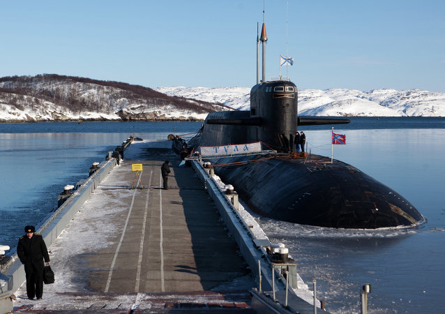 Submarino nuclear estratégico Tula en la guarnición de Gadzhíevo