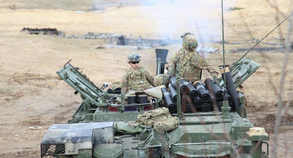 Militares de EEUU durante los ejercicios en Letonia