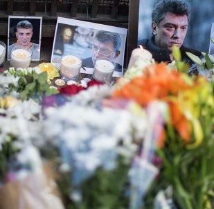 El lugar del asesinato de Borís Nemtsov en Moscú