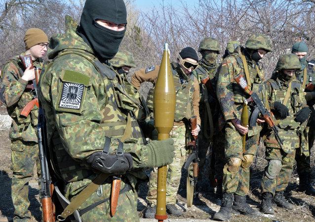 Militantes del batallón Azov