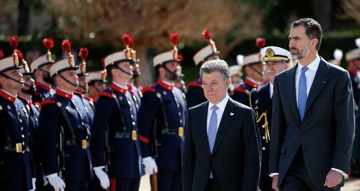 Presidentes de Colombia, Juan Manuel Santos y rey de España, Felipe VI