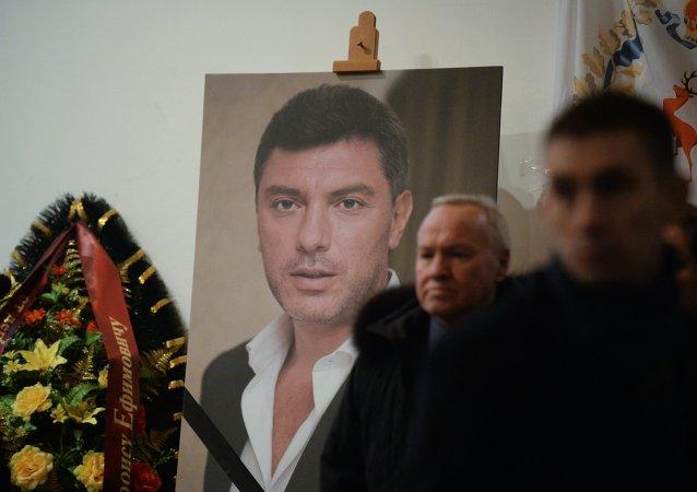 Retrato del líder opositor Borís Nemtsov