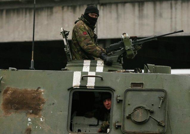 Soldado ucraniano cerca de Artiómovsk