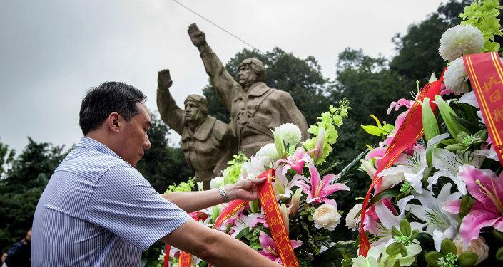 Homenaje a los caídos de la Segunda Guerra Mundial en China (archivo)
