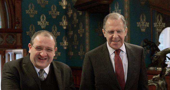 Встреча Сергея Лаврова и Фернандо Карреры в Москве