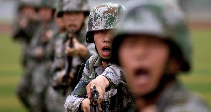 Cadetes del Ejército Popular de Liberación de China