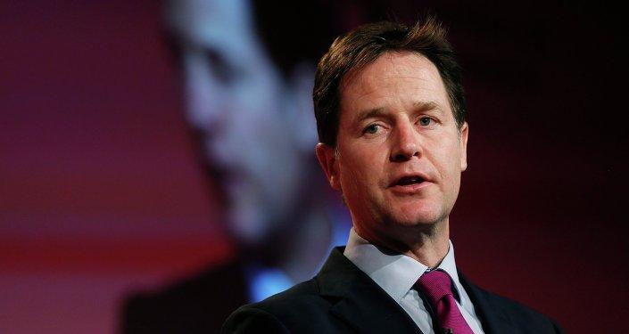 Nick Clegg, vice primer ministro de Reino Unido