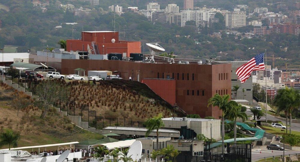 Edificio de la embajada estadounidense en Caracas
