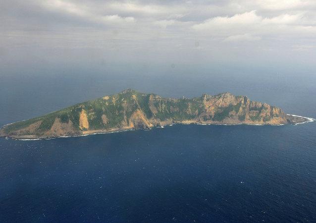 Una de las islas disputadas del archipiélago Senkaku (Diaoyu)