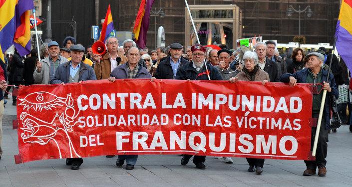 Concentración semanal en Sol contra la impunidad del franquismo