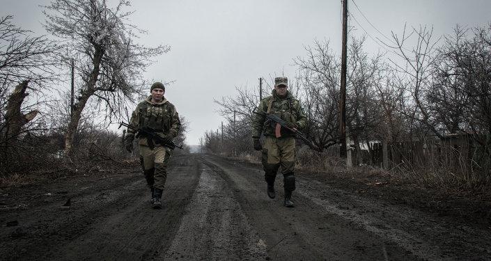 Situación cerca del pueblo Luganskoe