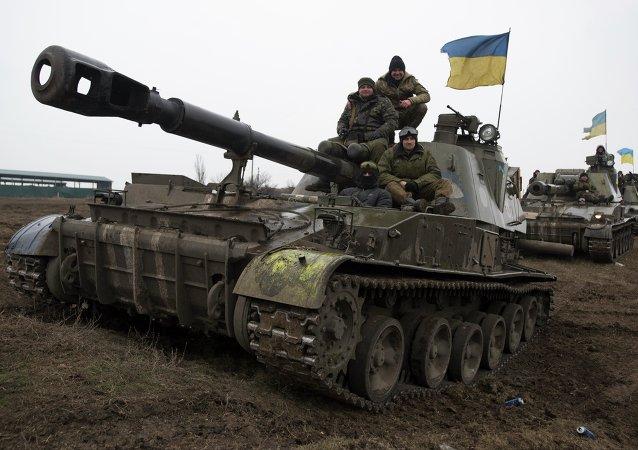 Carros de combate ucranianos (Archivo)