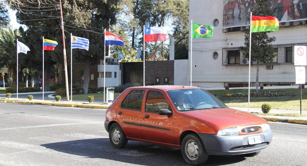 Флаги стран участниц саммита Меркосур