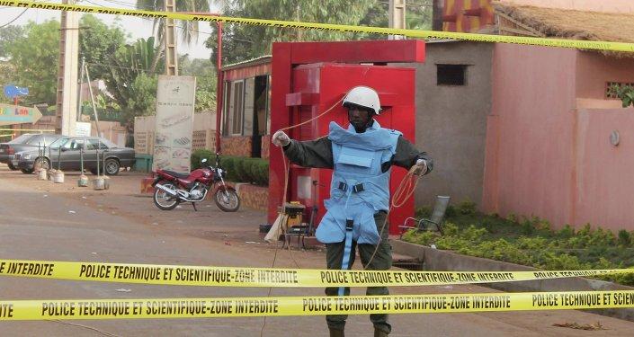 Después atentado terrorista perpetrado en Malí
