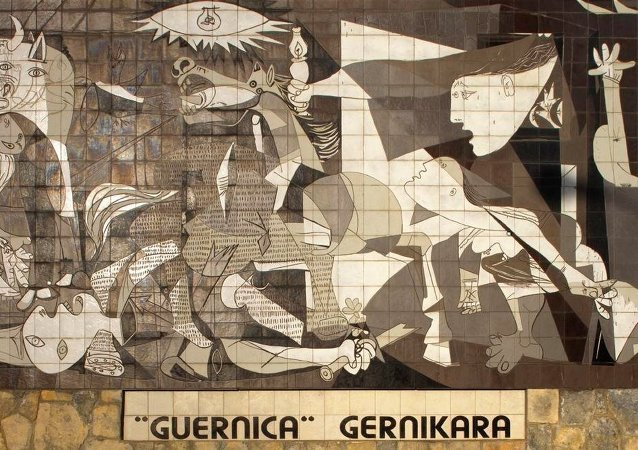 Guernica de Pablo Picasso (una reproducción en azulejos)