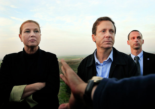 Líder de Hatnuah, Tzipi Livni y líder del Partido Laborista, Isaac Herzog