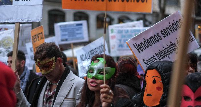 Manifestación en Madrid por los derechos de las prostitutas, 15 de febrero de 2015
