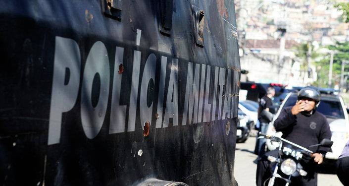 Policìa en una de las favelas de Río de Janeiro (Archivo)