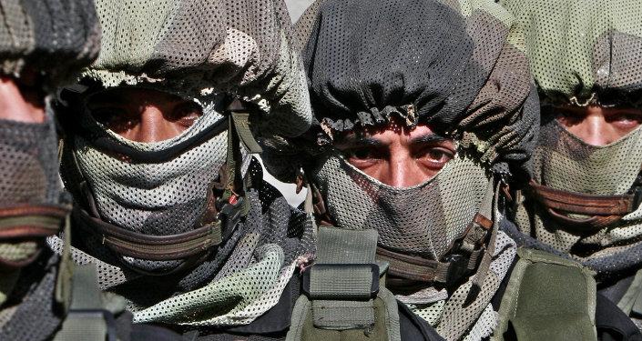 Miembros de las fuerzas de seguridad de Palestina (Archivo)