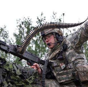 Un militar de la OTAN en Lituania