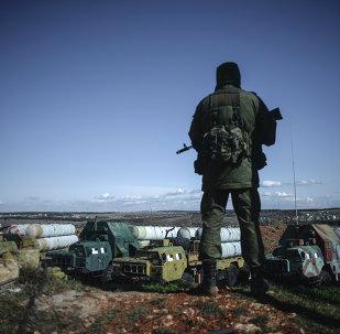 Soldado ruso en Crimea