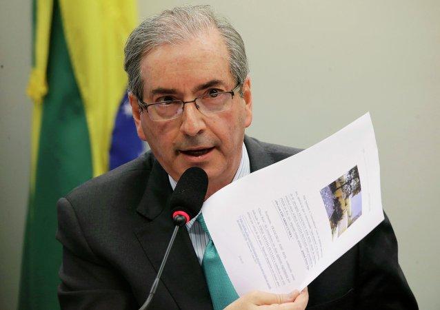 Eduardo Cunha, presidente del Congreso de Brasil