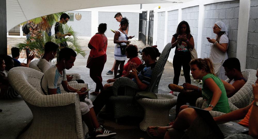Usuarios cubanos del Internet