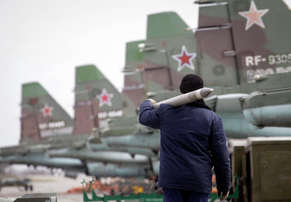 Maniobras de la Fuerza Aérea de Rusia en la región de Stávropol