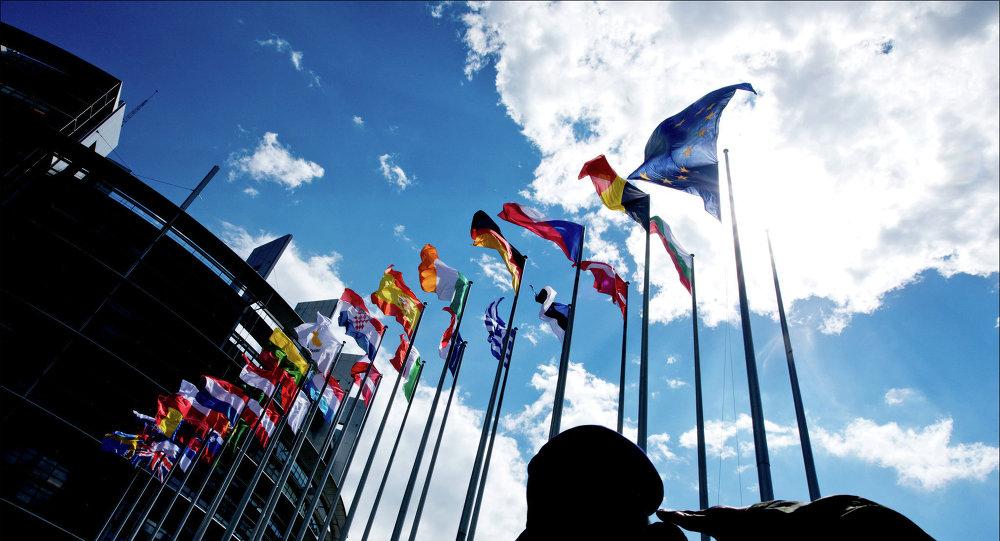 Banderas de la UE en Estrasburgo
